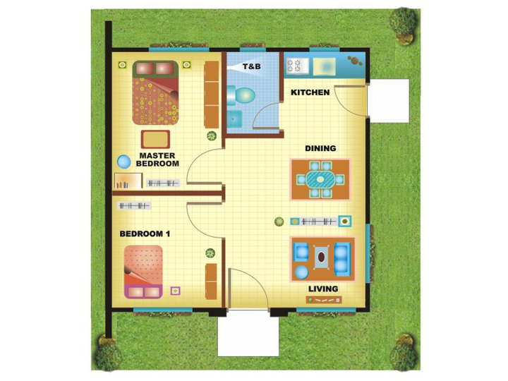 100 square meter house plan philippines home design and for Floor plan bungalow house philippines